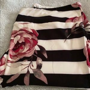 TC two floral and striped leggings Lula row